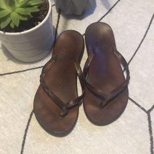 American Eagle Leather, Thong Sandals w/ Braid